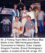 Marlin Fishing Tournament Team